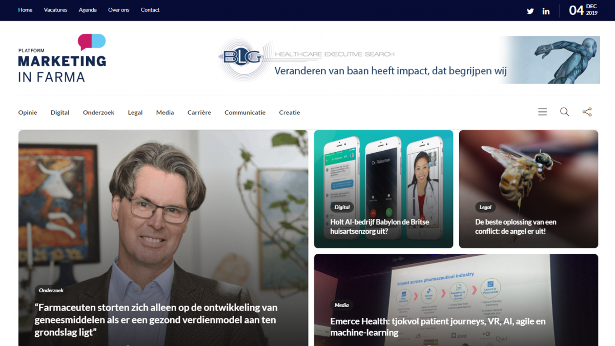 Platform Marketing in Farma lanceert vernieuwde website